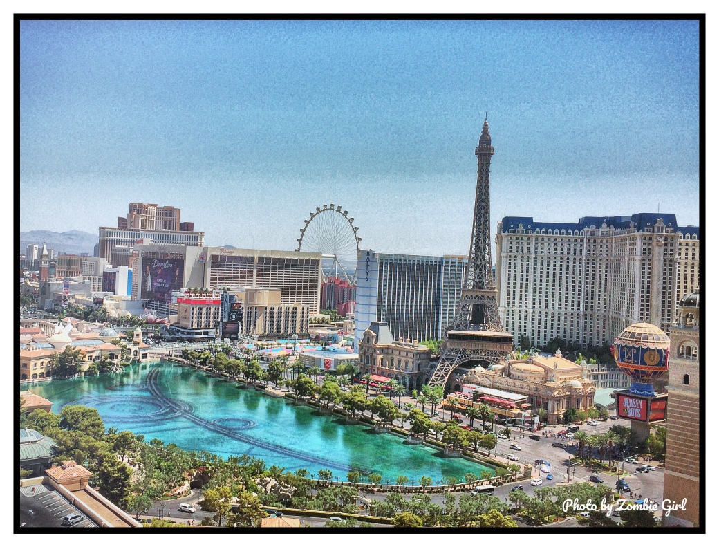 The view from the Cosmopolitan Hotel in Vegas