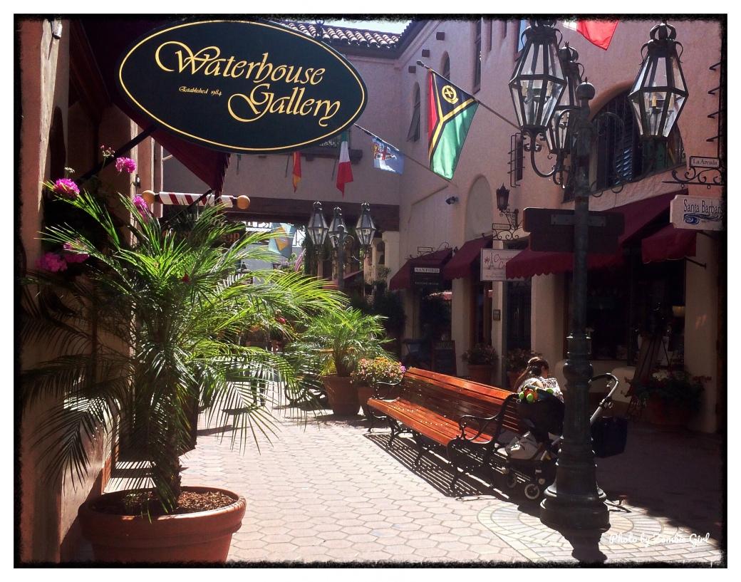 Winding streets in Santa Barbara