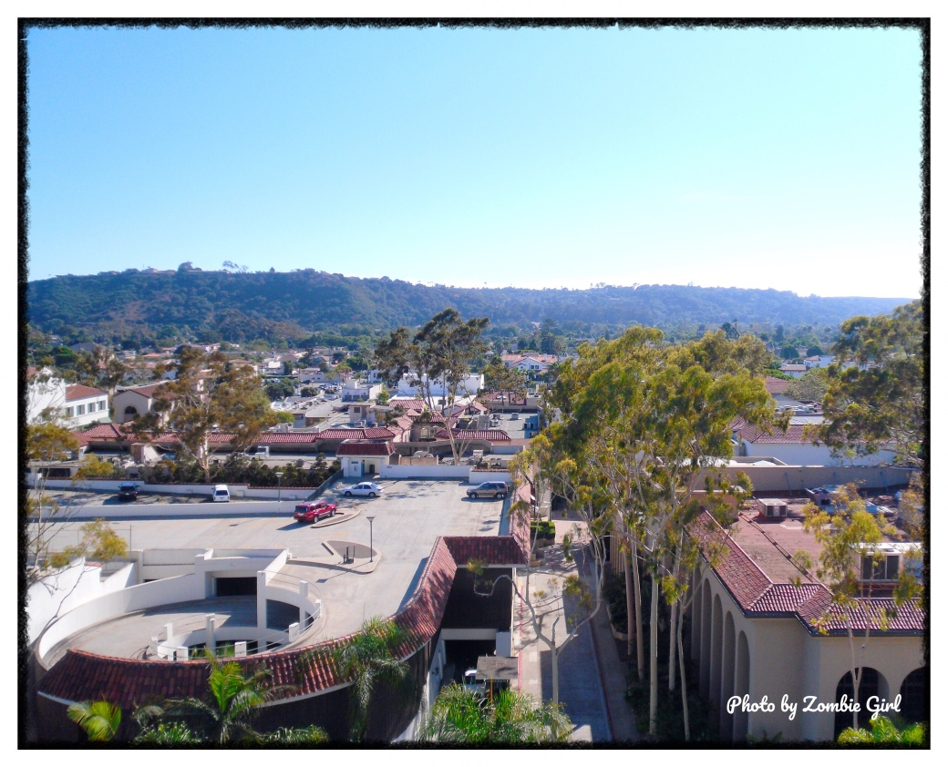 The view from the roof of the Court House in Santa Barbara