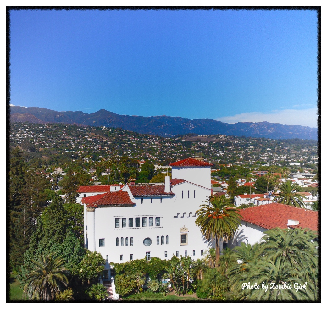 Spanish style architecture seen from the roof of the Santa Barbara Court House
