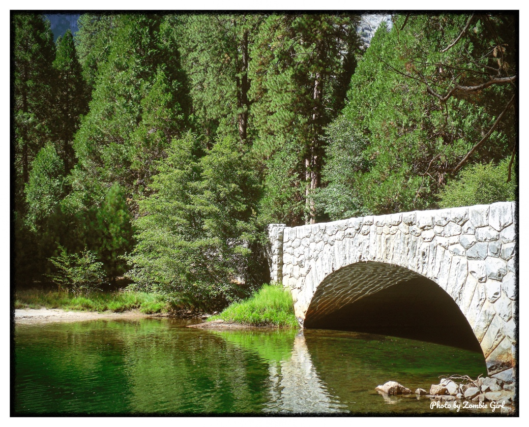 Stoneman Bridge offers some great views of Half Dome and is the gateway to Sentinel Beach.