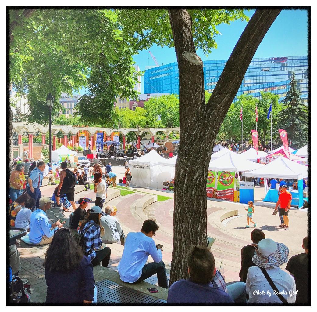 Street festival in Calgary