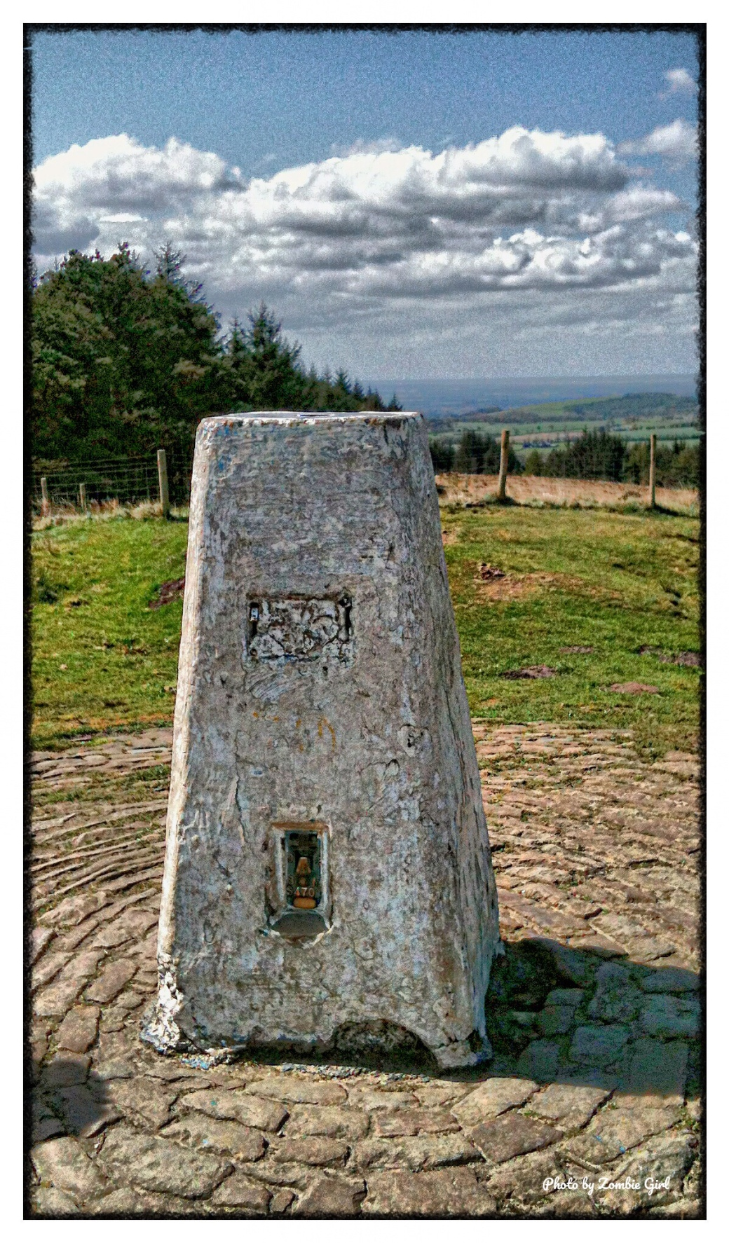 Stone marking the site of the Beacon