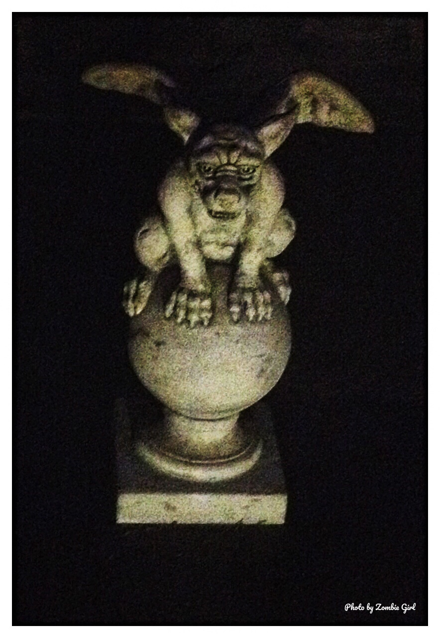 Gargoyles rising out of the darkness